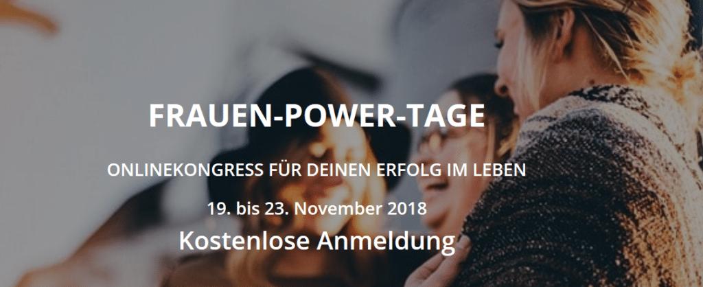 Online-Kongress Frauen-Power-Tage