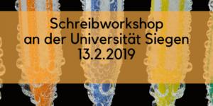 Schreibworkshop an der Universität Siegen mit Barbara Budrich