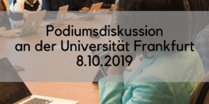 Podiumsdiskussion in Frankfurt