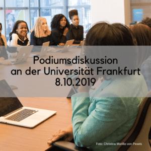 Podiumsdiskussion in Frankfurt
