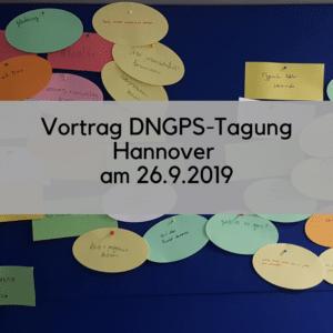 DNGPS-Tagung Hannover wissenschaftliches Publizieren